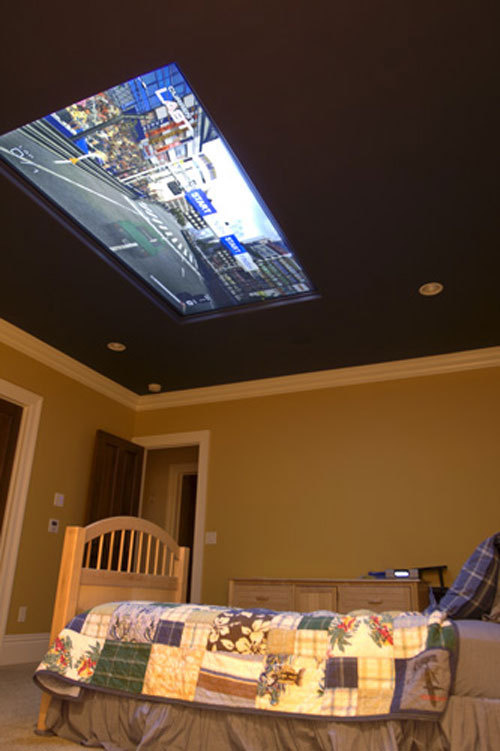 tv on the ceiling